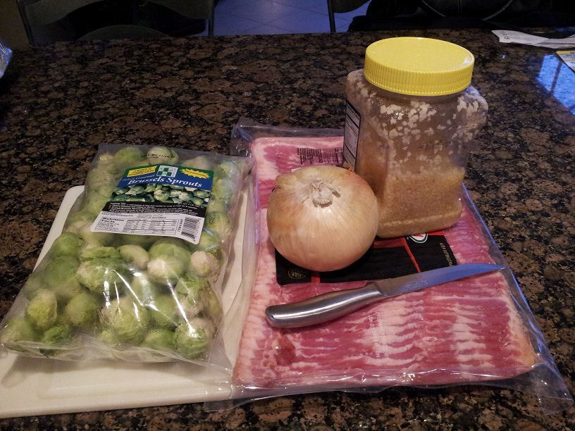 Bacon and Garlic Brussels Sprouts