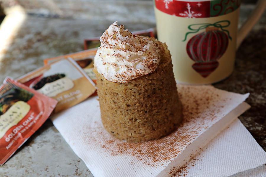 Chai Spice Keto Mug Cake | Shared via www.ruled.me