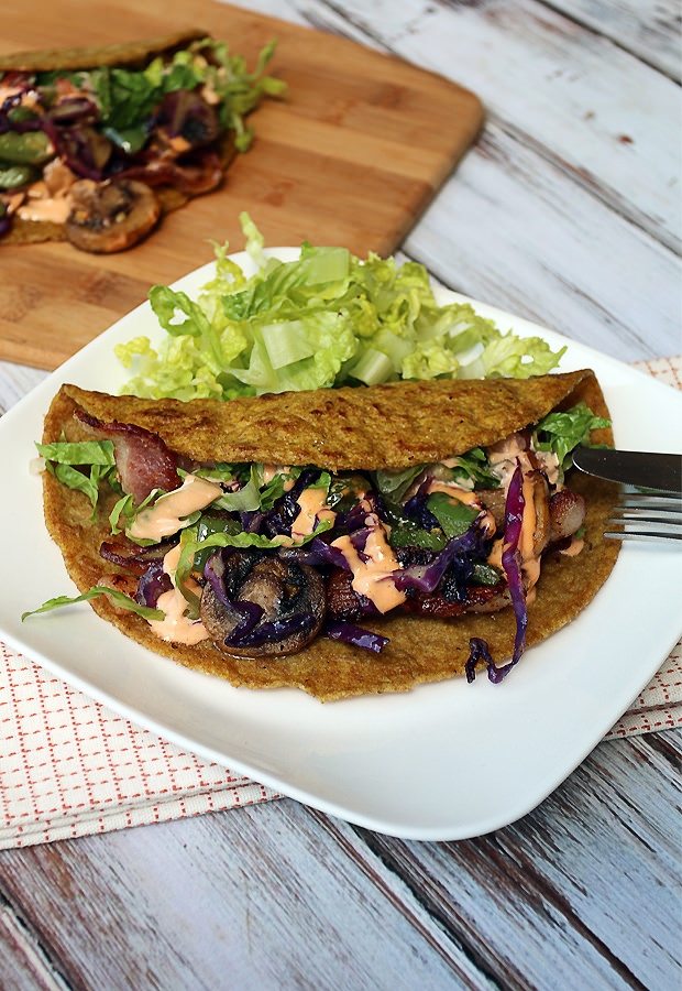 Low Carb Flax Tortillas   Shared via www.ruled.me