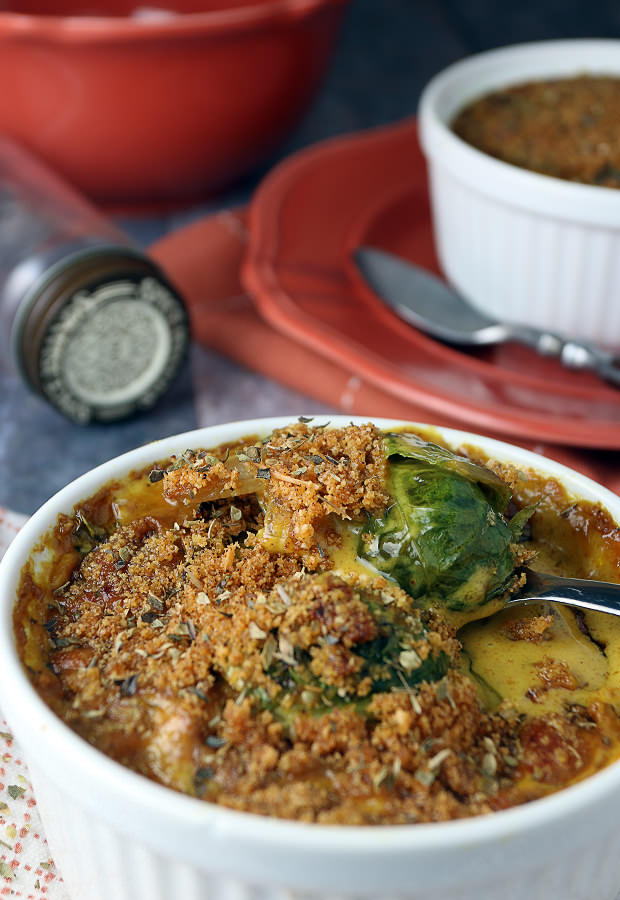 Delicious #Keto Au Gratin Brussels Sprouts | Shared via www.ruled.me/