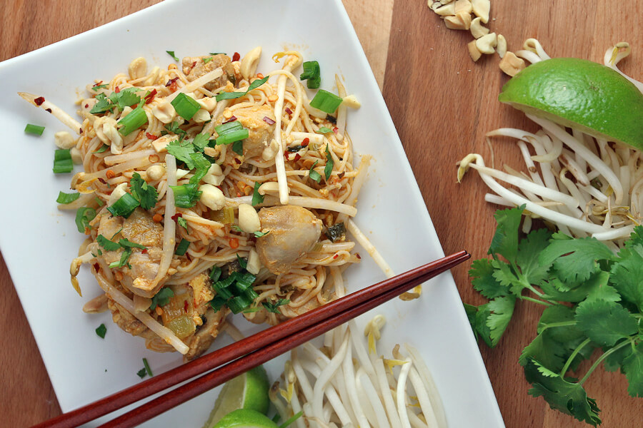 Keto Chicken Pad Thai | Ruled Me