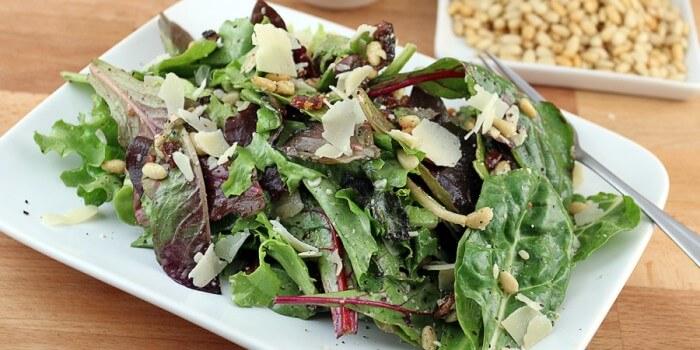 Keto Mixed Green Spring Salad