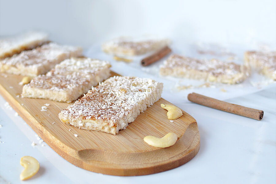 No Bake Coconut Cashew Bars