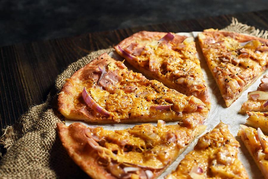 apple and ham flatbread