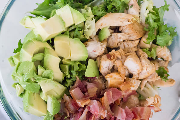 Keto Chicken, Bacon, and Avocado Salad