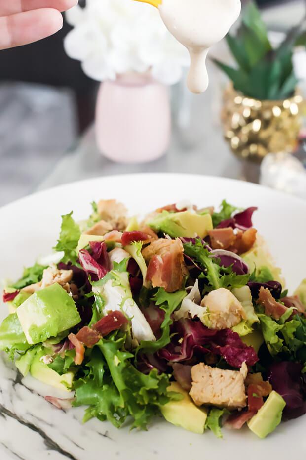 Keto Chicken, Bacon, and Avocado Salad