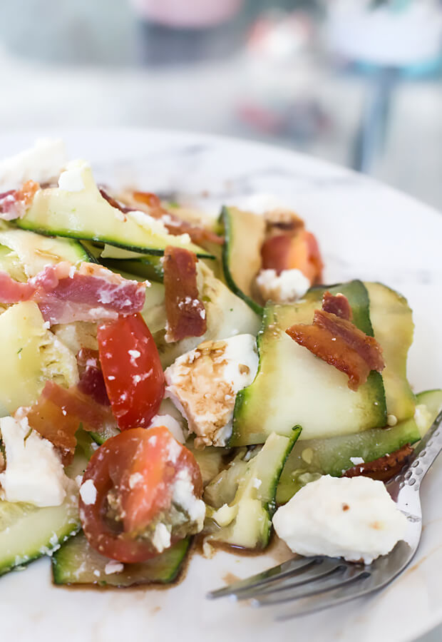 Zucchini Ribbon Side Salad