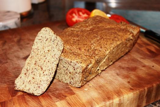 Click to see how to make the low carb flax bread