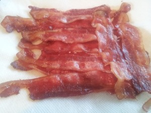 Delicious and crisp bacon from the oven