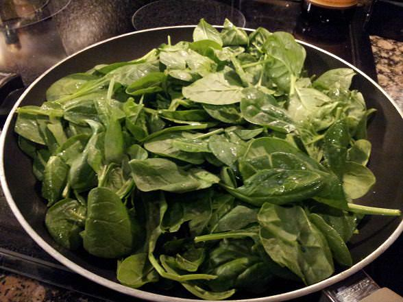 Cook down your spinach