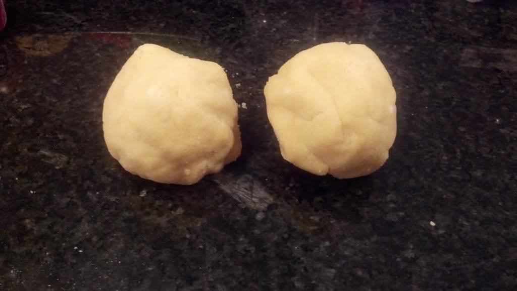 Divide into 2 balls