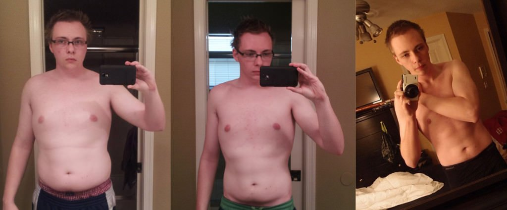 Here's a front view of the progress I've made over the last 6 months on a low carb high fat diet.
