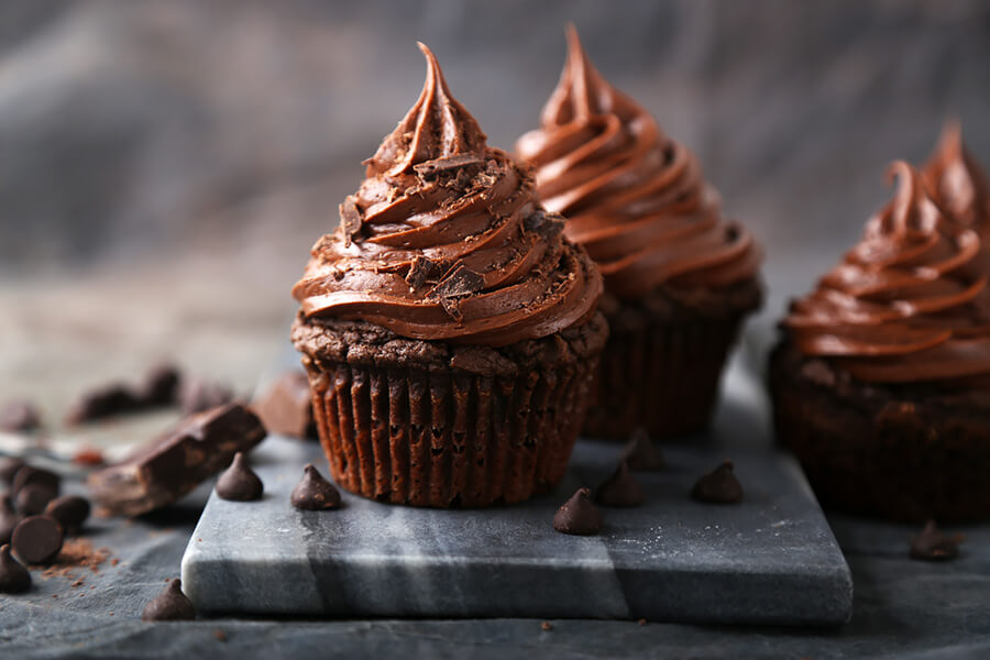 Low Carb Chocolate Brownie Cupcakes, 'Nuff Said