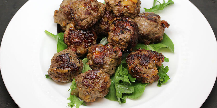 Cheddar and Bacon BBQ Meatballs