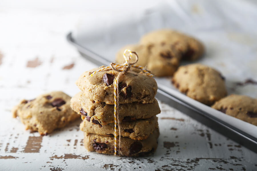 Keto Orange & Chocolate Chunk Cookies