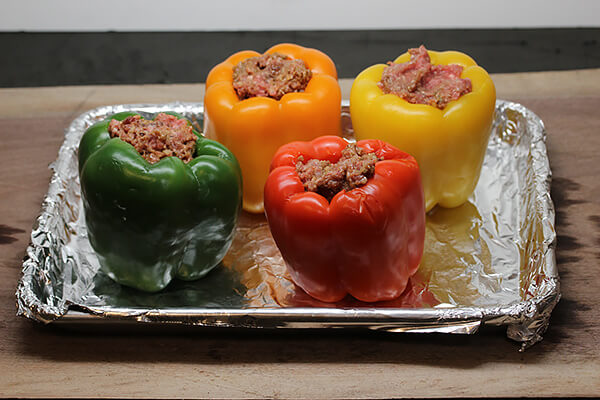 Bacon and Beef Stuffed Bell Peppers