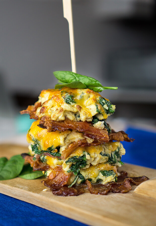 "A super portable way to create leftover breakfasts for days to come. These ""Breakfast Stax"" will be your new go-to breakfast! Shared via //www.ruled.me/"