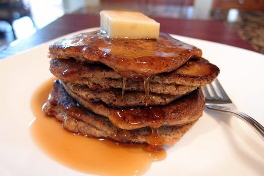 Click here to make almond flour and flaxseed pancakes