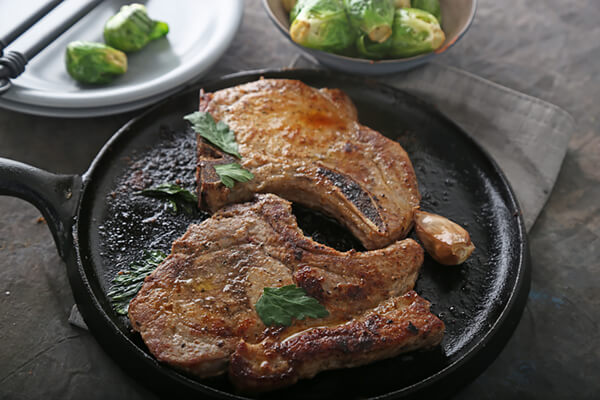 Applewood Seared Pork Chops