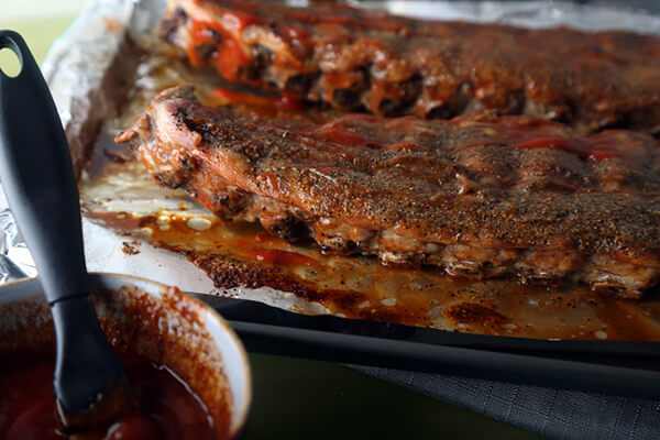 Pork Loin Ribs with Keto BBQ Sauce