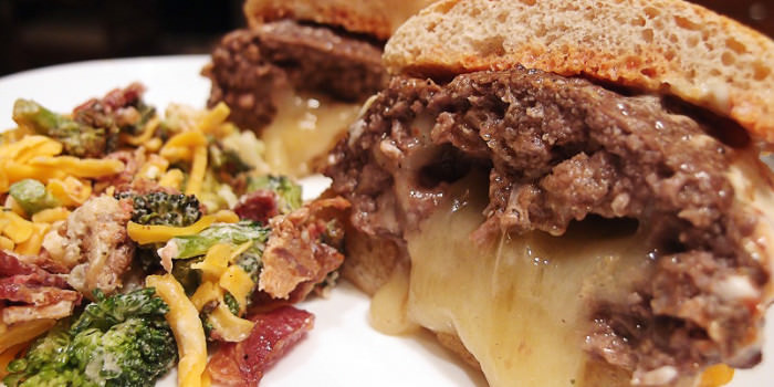 Baked Brie Juicy Lucy