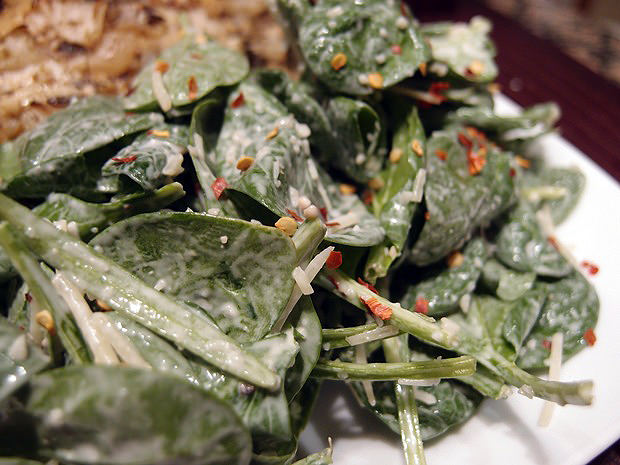 Red Pepper Spinach Salad - Shared via www.ruled.me