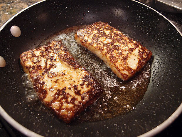 frying cheese