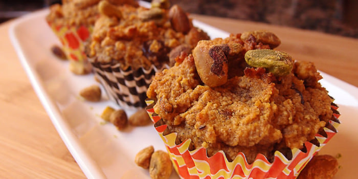 Pistachio and Pumpkin Chocolate Muffins