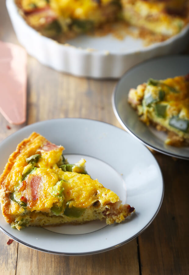 Almond Crusted Keto Quiche