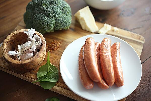 Ingredients on plate.