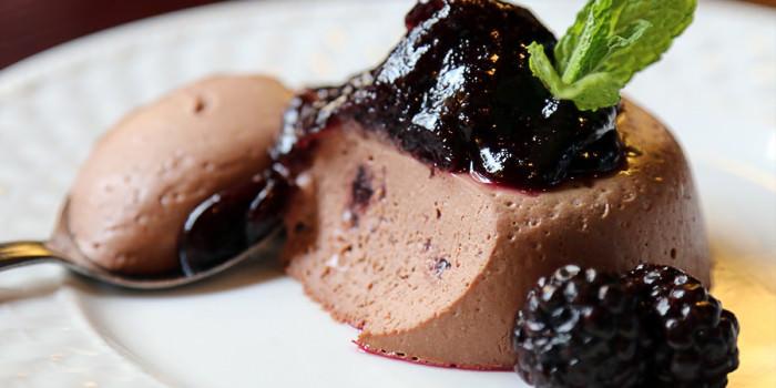 Blackberry Chocolate Panna Cotta