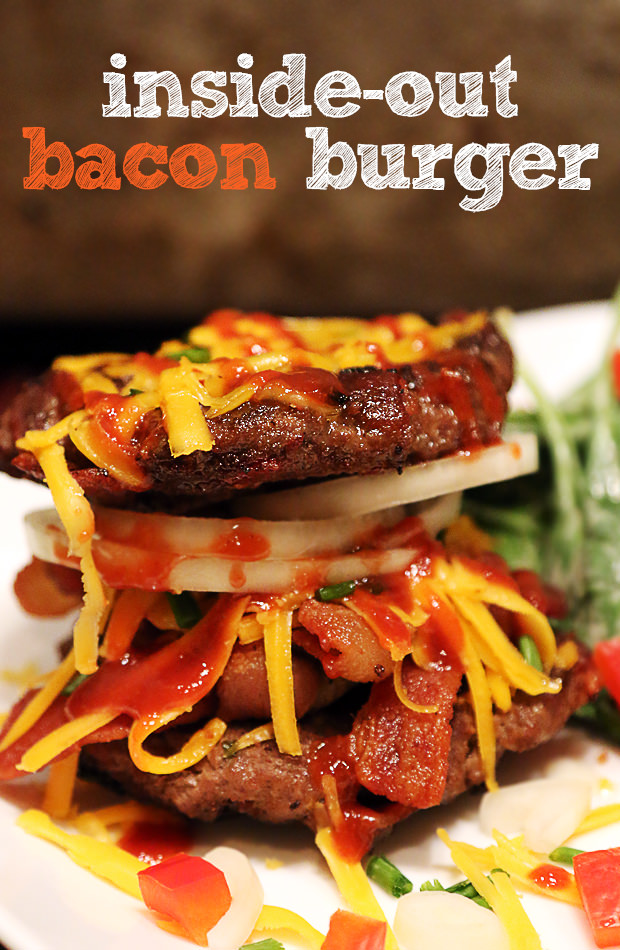 Inside Out Bacon Burger | Shared via www.ruled.me