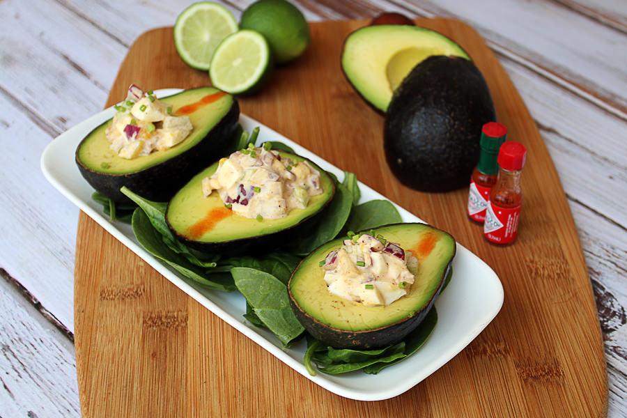 Keto Avocado Cake Recipes: Egg Salad Stuffed Avocado
