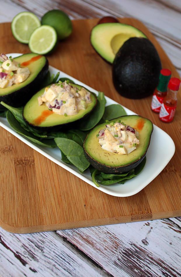 Egg Salad Stuffed Avocado   Shared via www.ruled.me