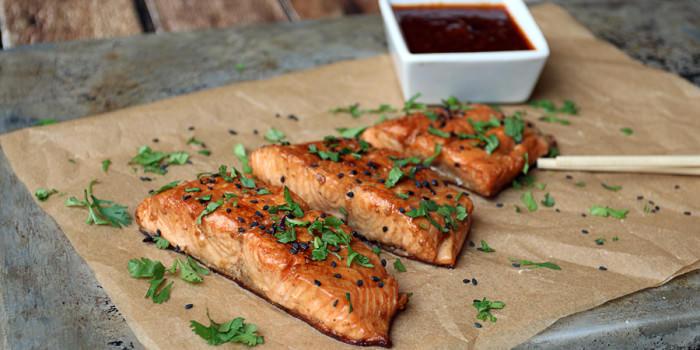 Ginger Sesame Glazed Salmon