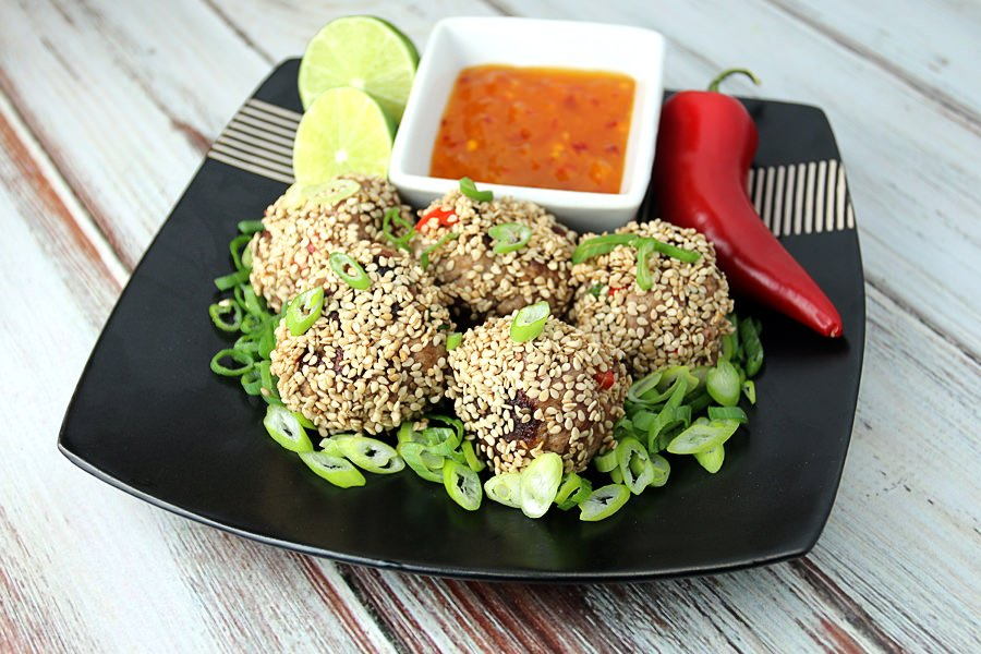 Thai Chili Lime Meatballs - Shared via www.ruled.me
