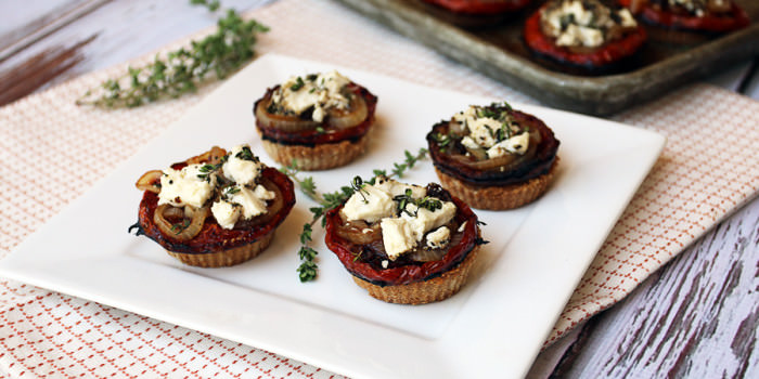 Goat Cheese Tomato Tarts