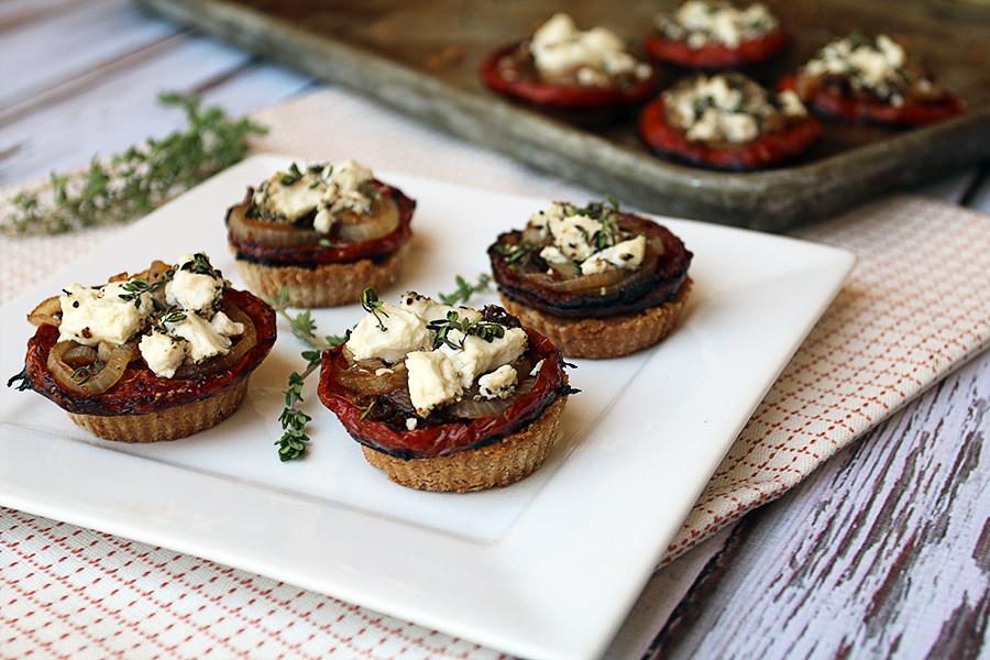 Goat Cheese Tomato Tarts | Shared via www.ruled.me