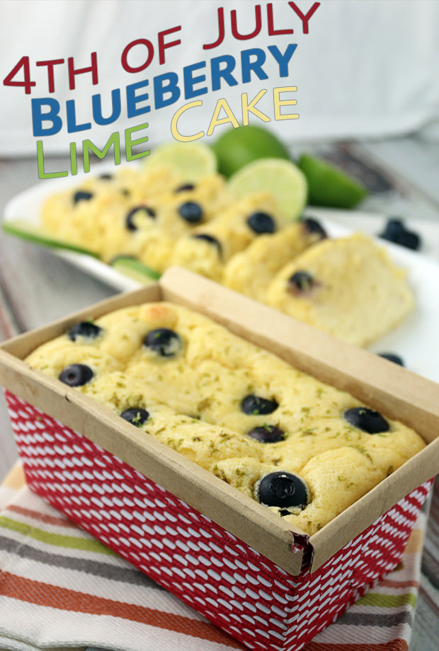 Blueberry Lime July 4th Cake | Shared via www.ruled.me/