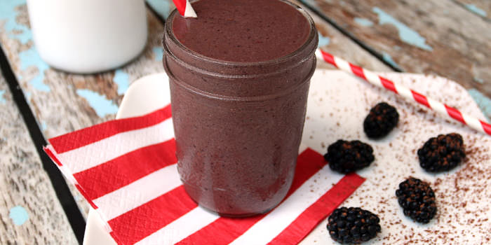Blackberry Chocolate Shake
