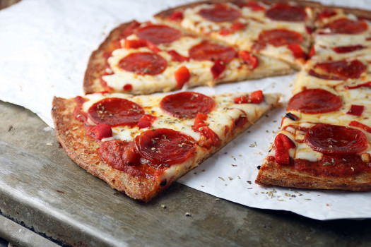 Click to see how to make the low carb pepperoni pizza