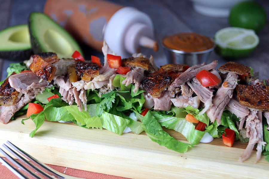keto salad: Thai BBQ Pulled Pork Salad