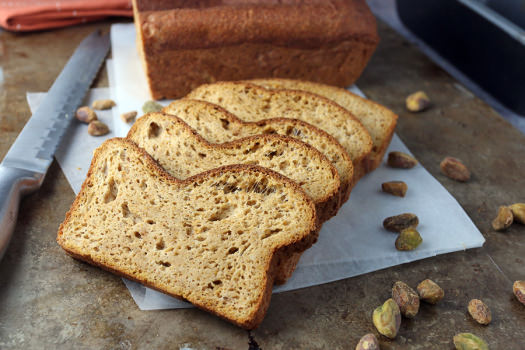 Click to see how to make the keto pumpkin bread loaf