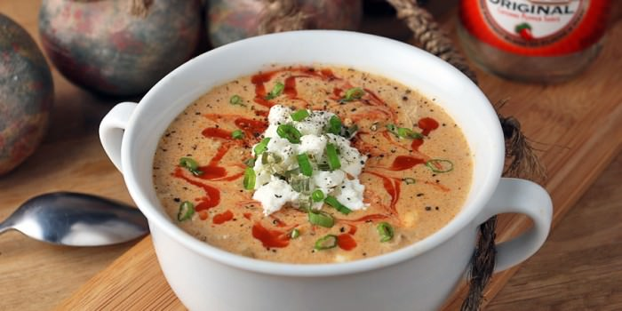 Crockpot Buffalo Chicken Soup