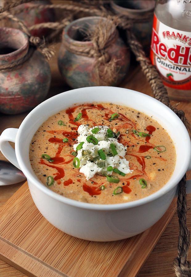 Crockpot Buffalo Chicken Soup Ruled Me