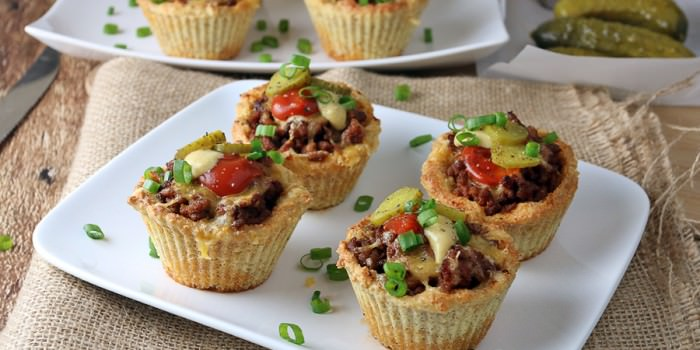 Keto Cheeseburger Muffins