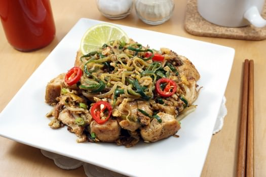 Click to see the recipe for Thai Chicken Zoodles