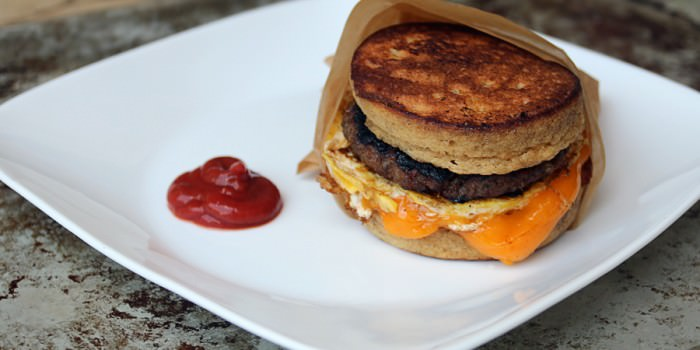 Low Carb Pancake Sandwich