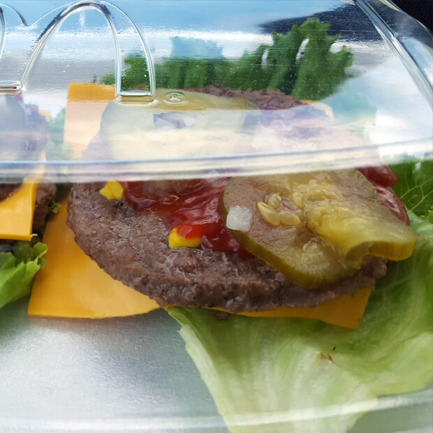McDonalds keto burger with no bun