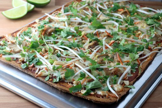 Click to see how to make the thai chicken flatbread